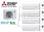 MITSUBISHI ELECTRIC MXZ-4D83VA + MSZ-SF25VA (4 szt.) INVERTER
